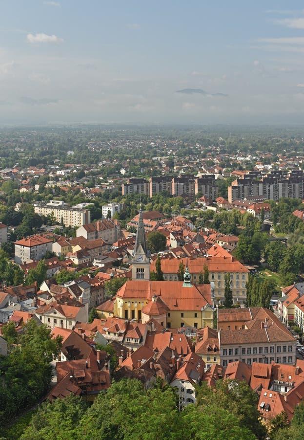Ljubljana, a capital de Eslov?nia foto de stock