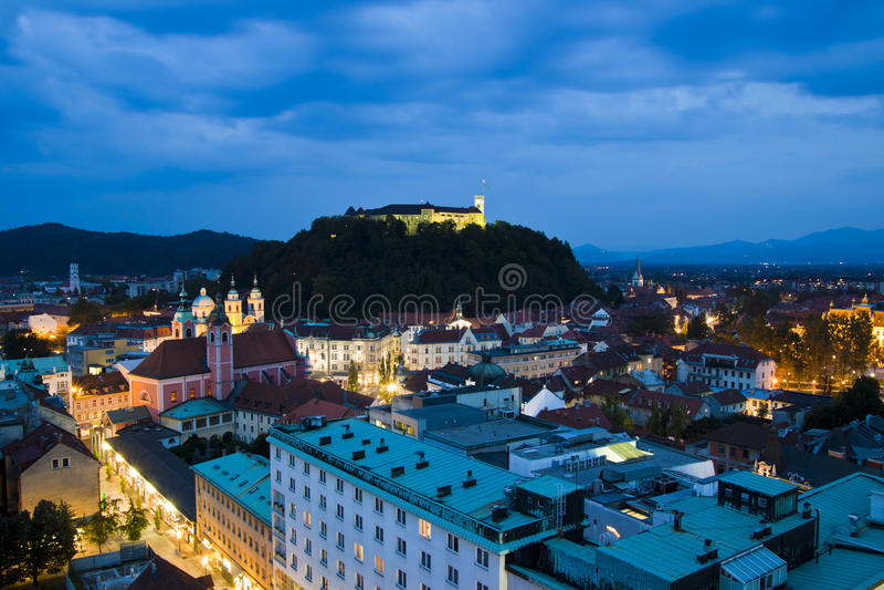 Ljubljana, capital de la Slovénie photographie stock