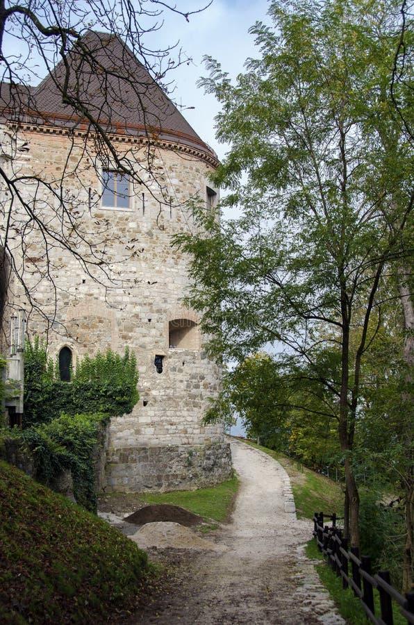 Download Ljubljana Castle, Slovenia stock image. Image of parapet - 28202843