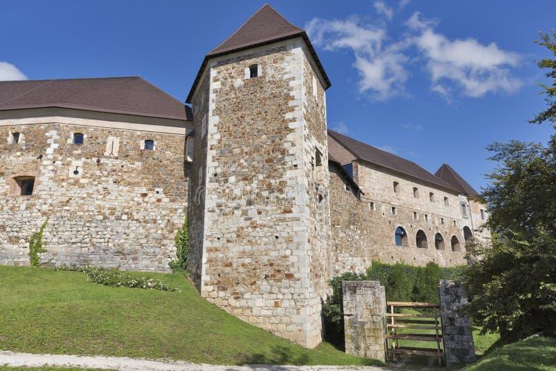 Ljubljana castle, Slovenia. Ancient walls of Ljubljana castle, Slovenia royalty free stock image