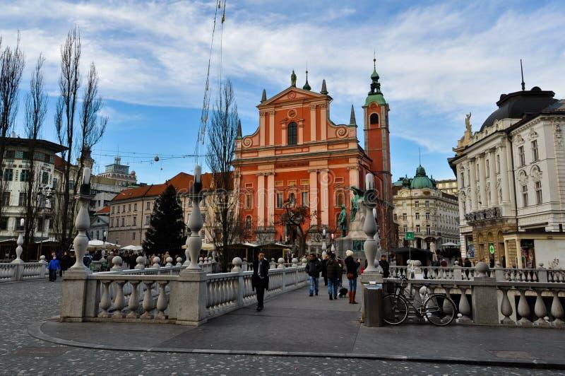 Ljubljana centrum miasta fotografia royalty free