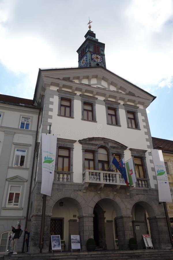 Free Ljubljana City Center Image Town Hall Royalty Free Stock Image - 160218026