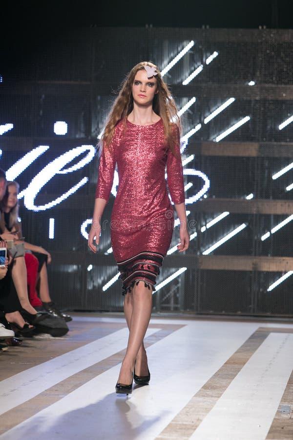 Ljubljana, Eslovênia/Eslovênia - 6 DE NOVEMBRO DE 2018: A semana de moda LJFW fotografia de stock royalty free