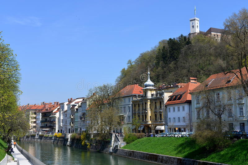 Ljubljana, Hauptstadt von Slowenien, Europa lizenzfreie stockbilder