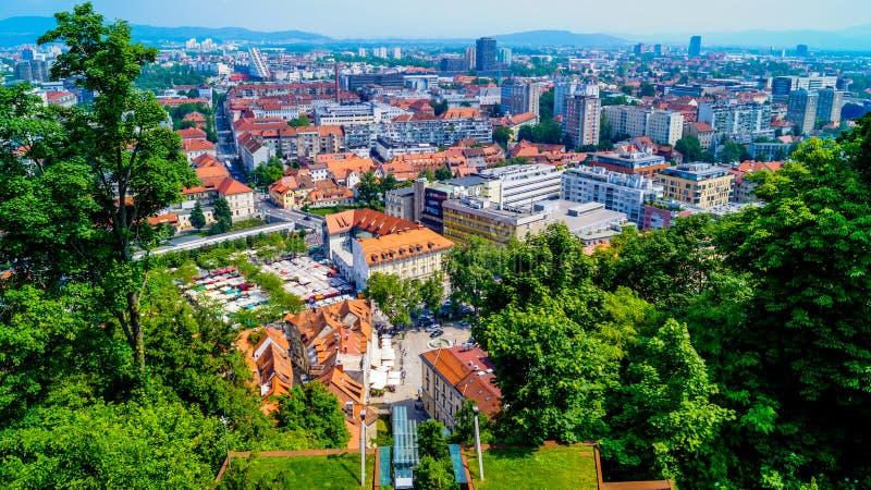 Ljubljana kasztel zdjęcie stock