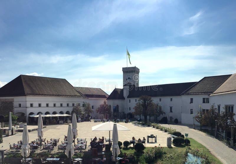 Ljubljana kasztel fotografia royalty free