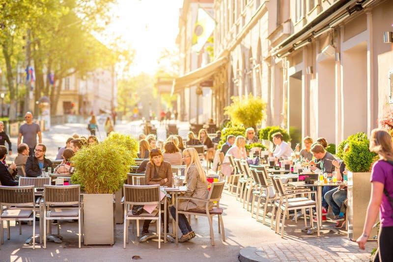 Ljubljana miasto w Slovenia zdjęcia stock
