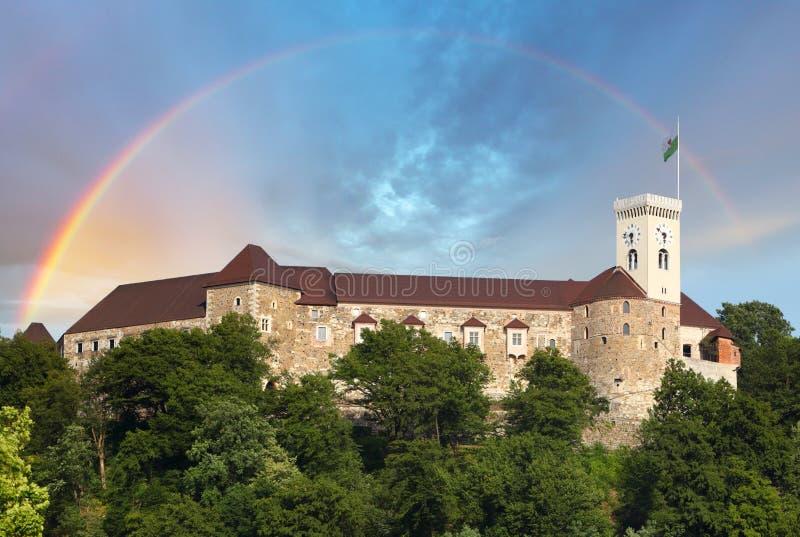 Ljubljana slott, Slovenien, Europa royaltyfri bild