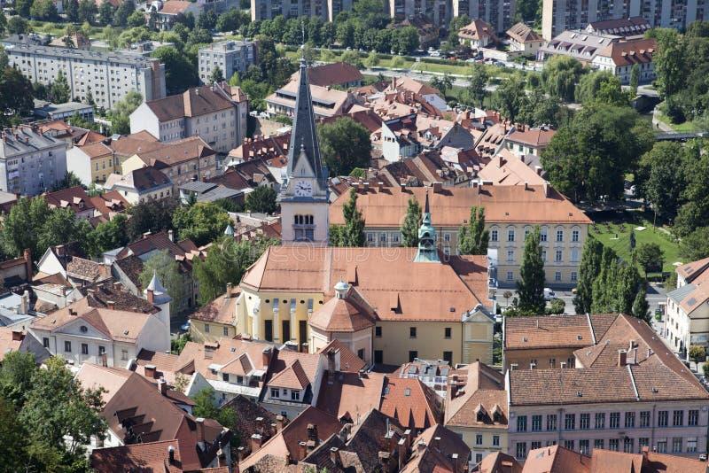 Ljubljana in Slovenia. Old city of Ljubljana in Slovenia royalty free stock photo