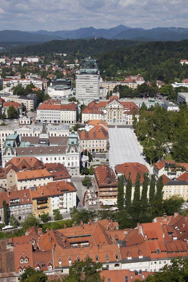 Ljubljana in Slovenia. Old city of Ljubljana in Slovenia stock photography