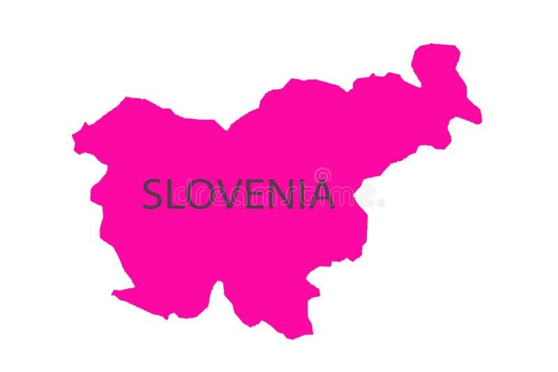 Ljubljana steckte auf eine Karte von Europa fest stock abbildung