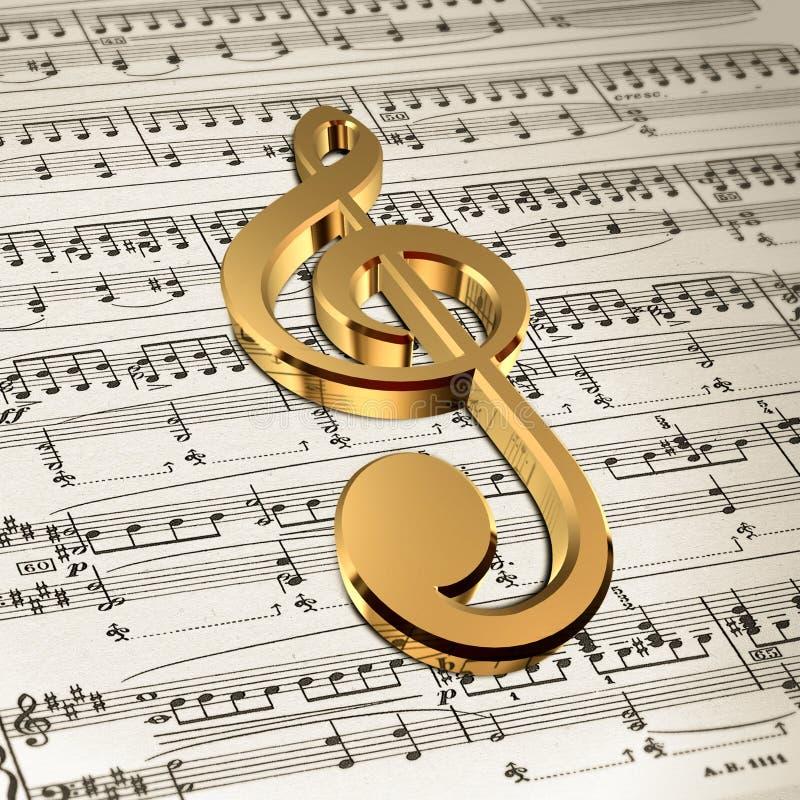 ljud för anmärkning för bakgrundsmusik stock illustrationer