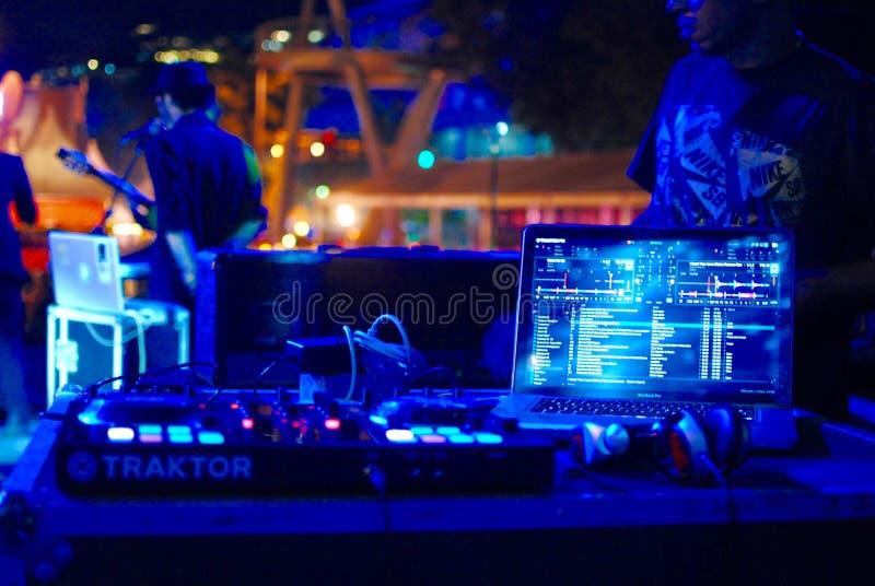 Ljud, mixer, Dj arkivbild