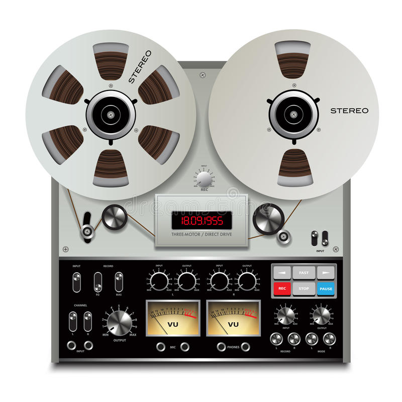 Ljudbandregistreringsapparat royaltyfri illustrationer