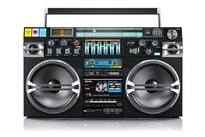 Ljudbandregistreringsapparat, gettoboombox 3d royaltyfri illustrationer