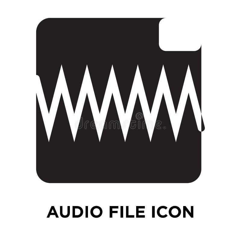Ljudfilsymbolsvektor som isoleras på vit bakgrund, logoconcep stock illustrationer