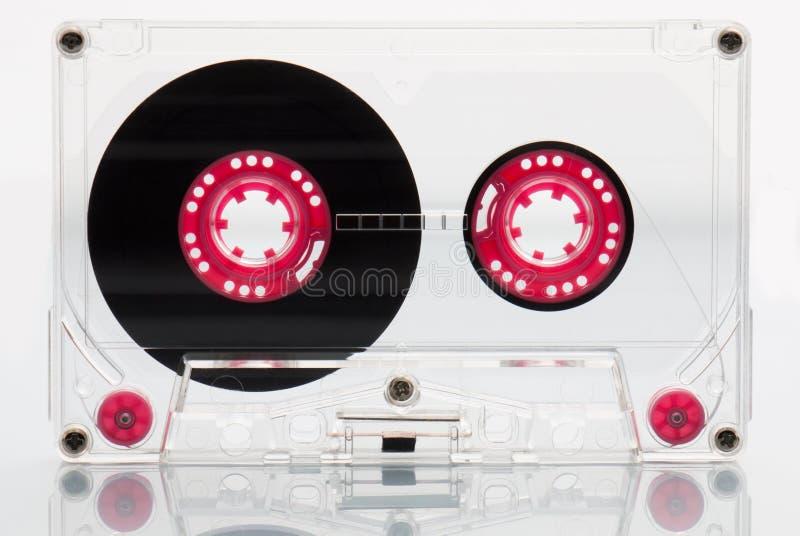Ljudkassettband, rosa färg. royaltyfria foton