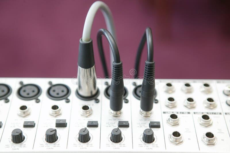 ljudsignal blandande panel 2 arkivbild
