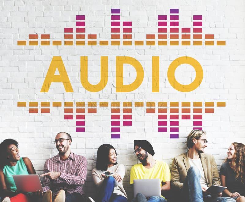 Ljudsignal Digital utjämnaremusik trimmar diagrambegrepp för solid våg royaltyfria bilder