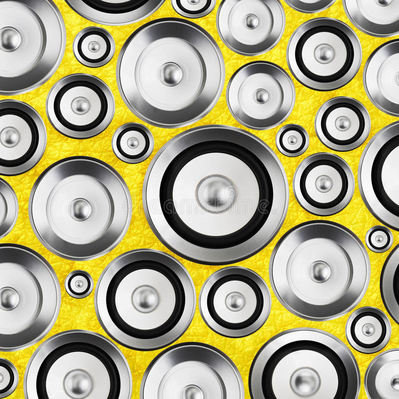 Ljudsignal för ljudhögtalare för stereo- system bakgrund fotografering för bildbyråer