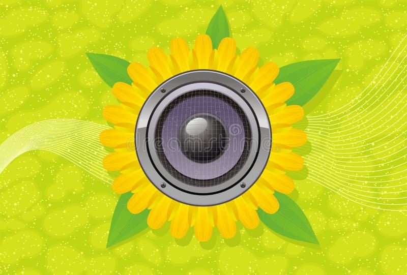 ljudsignal gerberhögtalare för abstrakt konst stock illustrationer
