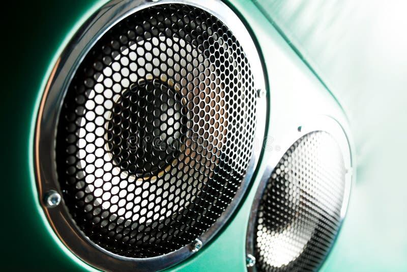 Ljudsignal högtalare royaltyfri foto
