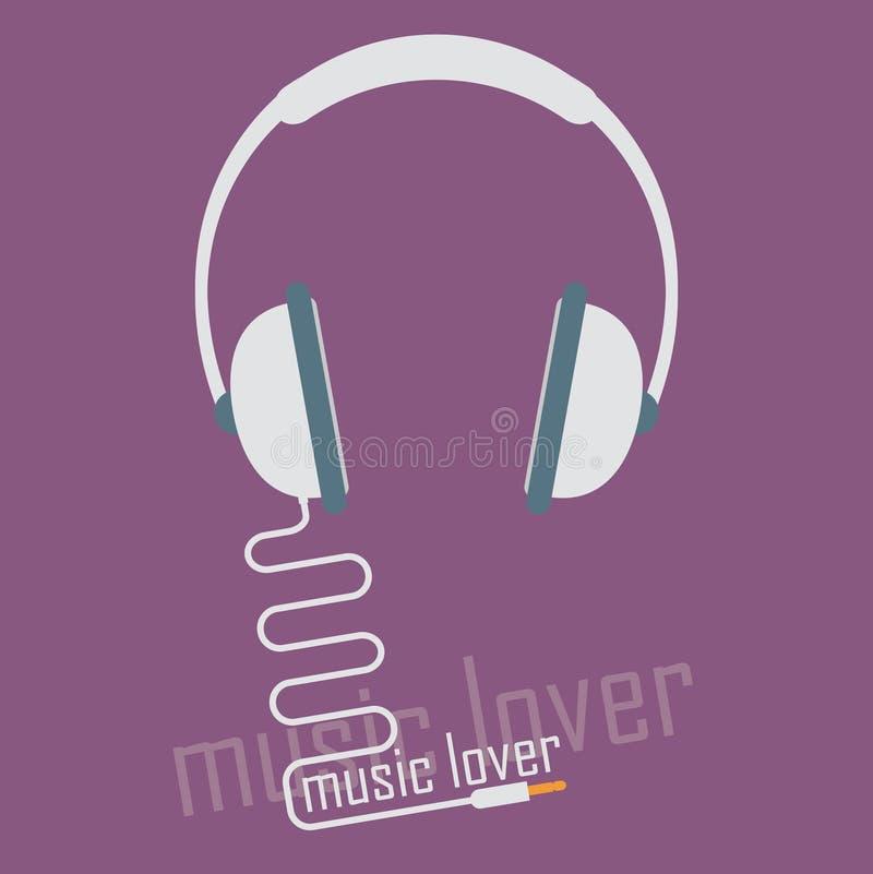 Ljudsignal headphonesymbol vektor illustrationer