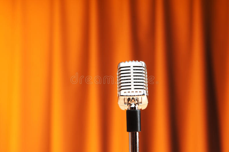 ljudsignal mikrofon royaltyfria bilder