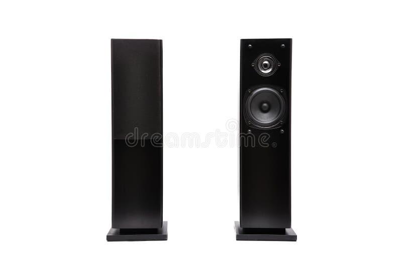 ljudsignala svarta högtalare royaltyfri foto