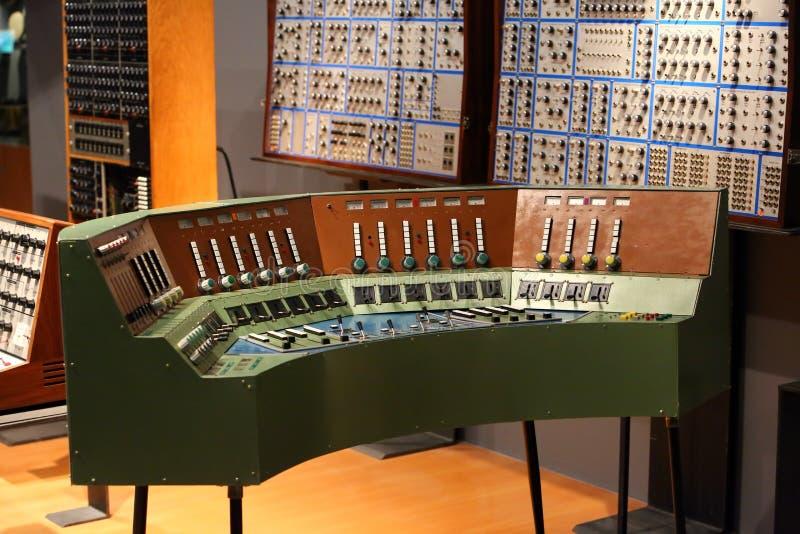 Ljudsignalinspelningstudio arkivbilder
