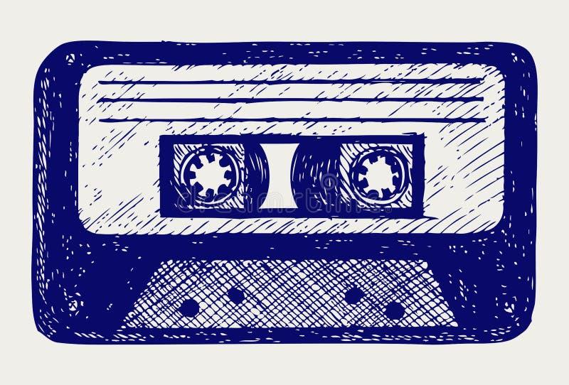 Ljudsignalkassetten tejpar stock illustrationer