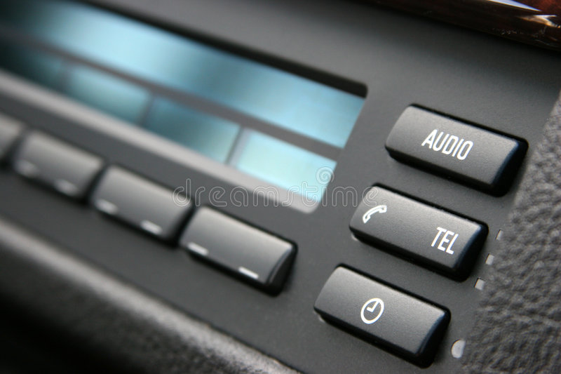 ljudsignalt billyxsystem royaltyfri fotografi