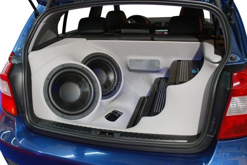 ljudsignalt bilsystem arkivbild