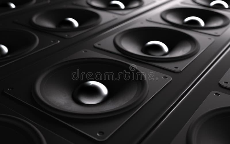 ljudsignalt kraftigt system royaltyfri illustrationer