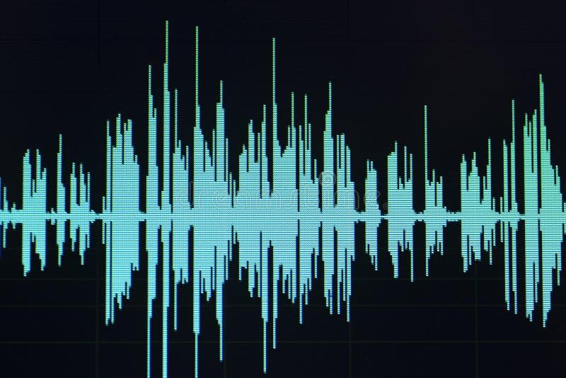 Ljudsignalt redigera för studio för solid våg arkivbild