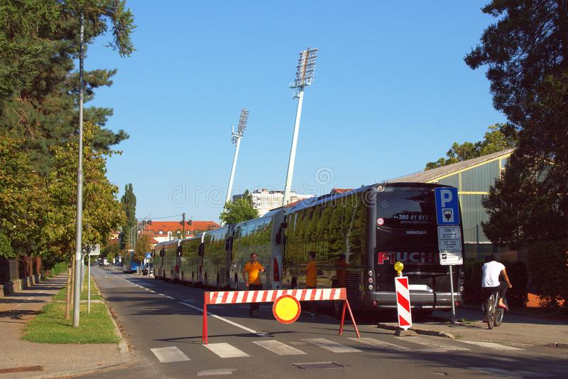 Ljudski Vrt Football Stadion Maribor, Slovenia stock photo