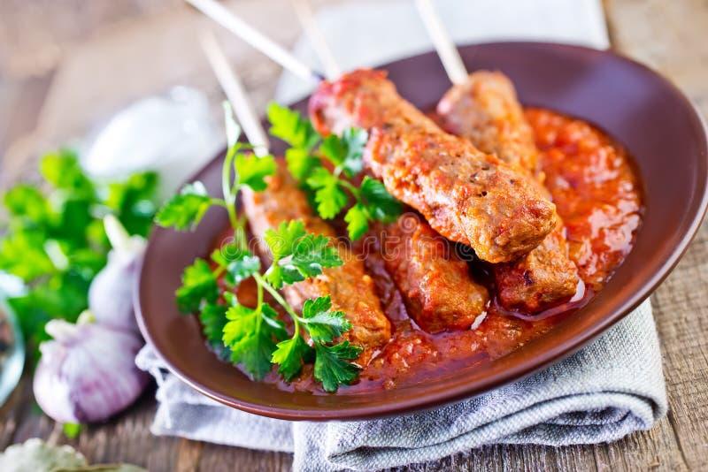Ljulja-kebab royalty-vrije stock afbeeldingen