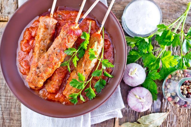 Ljulja-kebab stock foto
