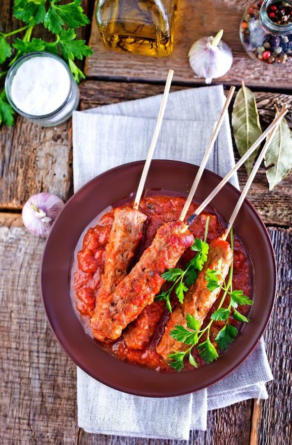 Ljulja-kebab stock foto's