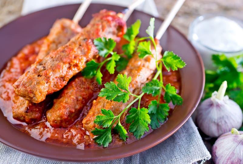 Ljulja-kebab royalty-vrije stock fotografie