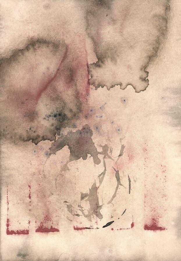 Ljus återanvänt pergament för grunge brunt med fläckar arkivfoto