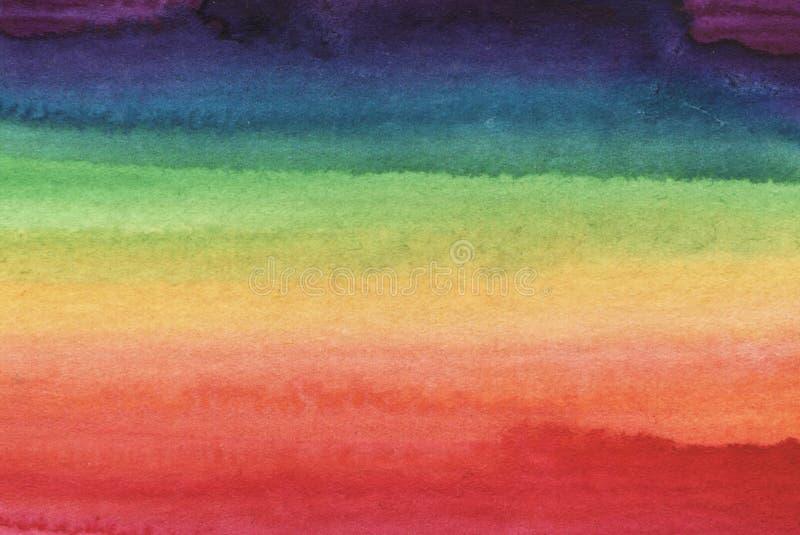 Ljus abstrakt bakgrund för vattenfärgregnbåge royaltyfri illustrationer