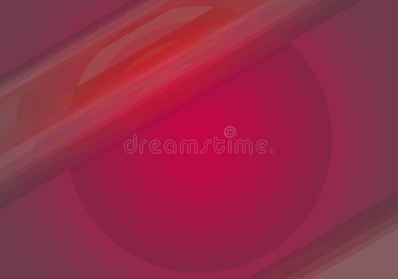 Ljus abstrakt bakgrund med cirkeln och linjer stock illustrationer