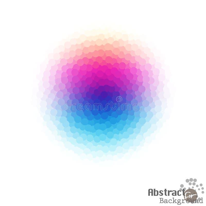 Ljus abstrakt färgrik prickig kristall av diagrammet på vit royaltyfri illustrationer