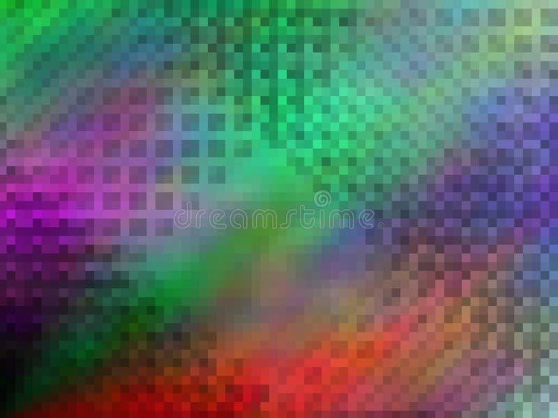 Ljus abstrakt flerf?rgad pixeled bakgrund royaltyfri illustrationer