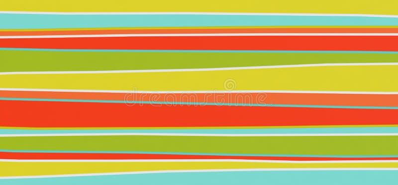 Ljus abstrakt mångfärgad bandbakgrund - illustration 3D royaltyfri illustrationer