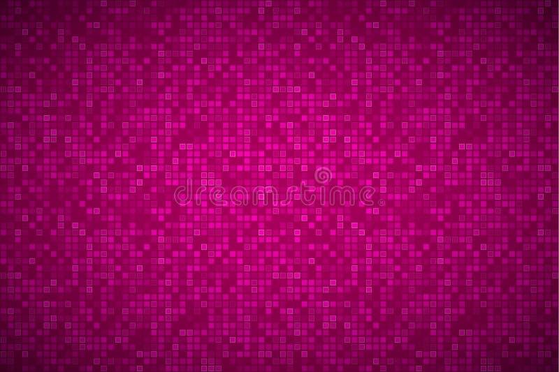 Ljus abstrakt mosaikmodell, tegelstentextur, rosa bakgrund vektor illustrationer