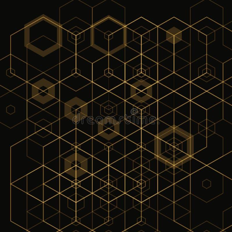 Ljus abstrakt technobakgrund med sexhörningar 10 eps royaltyfri illustrationer