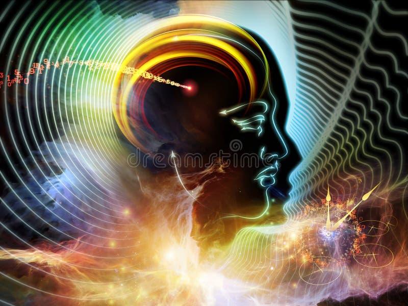 Ljus av den mänskliga meningen vektor illustrationer