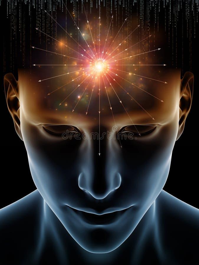 Ljus av den mänskliga meningen stock illustrationer